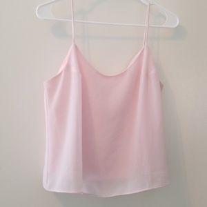 Dress Barn spaghetti strap pink blouse